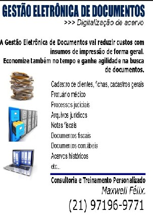 Foto 2 - Digitalização de Documentos e Acervo Digital
